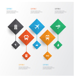 Exploration icons set collection of transport vector