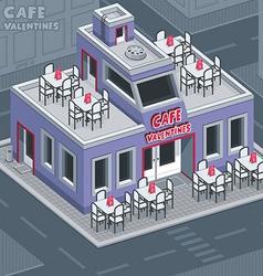 Facade valentine cafe vector image