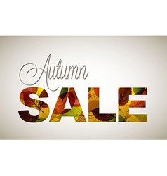 Fall sale poster vector