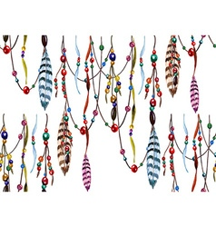 Feather and Bead pattern vector image