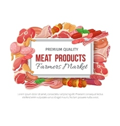 Gastronomic meat products banner menu design vector image vector image