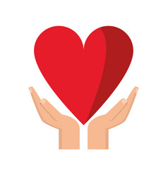 Hand holding heart healthcare vector