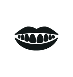 Healthy teeth mouth smile simple icon vector