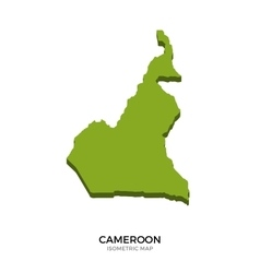Isometric map of Cameroon detailed vector image