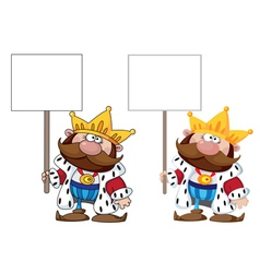 king with blank sign vector image vector image