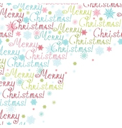 Merry christmas text frame corner pattern vector