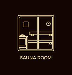 modern line style sauna logotype template vector image