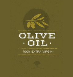 Organic olive oil rough on vector