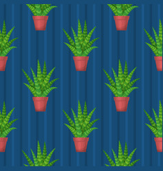 seamless pattern with succulent vector image