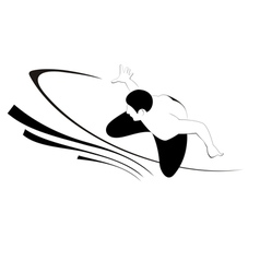 Silhouette of the surfer vector