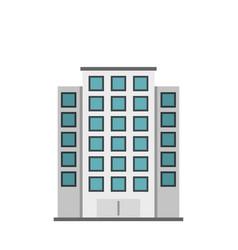 skyscraper icon flat style vector image
