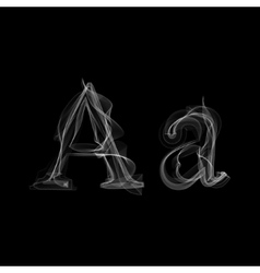 Smoke font letter a vector