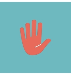 stop hand flat icon vector image