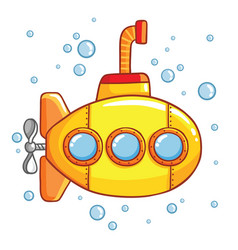 Submarine with air bubbles vector