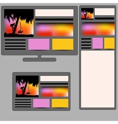 summer responsive web design vector image
