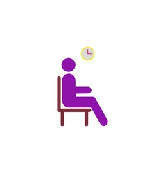 Wait icon vector