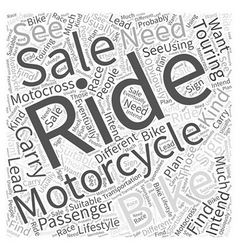 What To Do When You See A Sign Motorcycle For Sale vector image