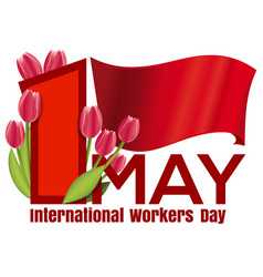 1 may card international workers day vector
