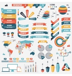 Collection of infograph people elements for vector