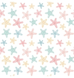 Seamless pattern with sea stars vector
