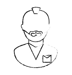 Figure arrested man icon image vector