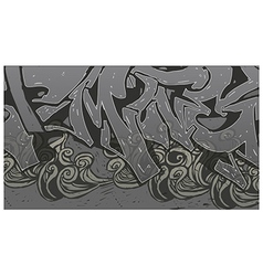 Alleyway graffiti background vector