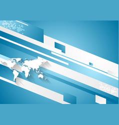 Digital technology geometric corporate blue vector
