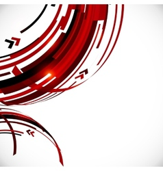 Abstract red and black circles background vector