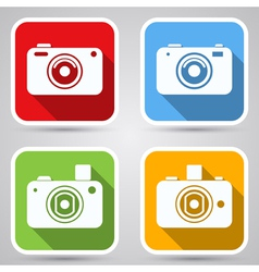 Photo camera icons collection vector