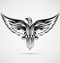 Eagle bird tribal vector