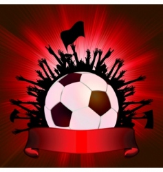 Grunge soccer ball background vector