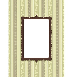 Vintage card design with tag scrap template vector