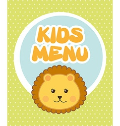 Kids menu vector