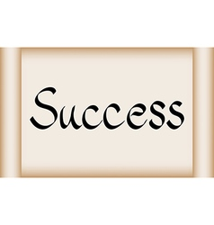 Success word on scroll paper vector