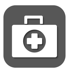 The medicine chest icon ambulance symbol flat vector