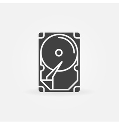 Hdd icon or logo vector