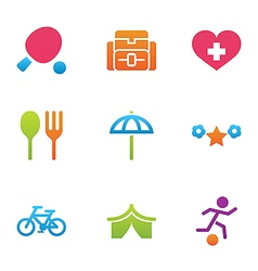 Icon set activity and rest vector
