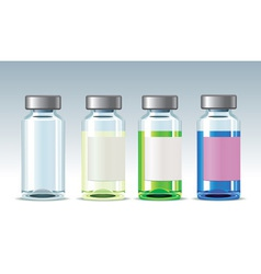 four medicine bottles vector image
