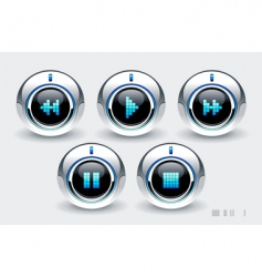 High tech buttons vector
