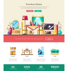 House interior store website header banner with vector