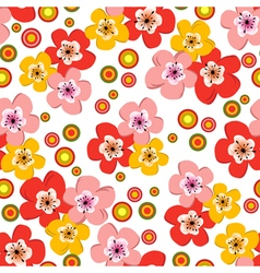 Seamless floral spring pattern vector