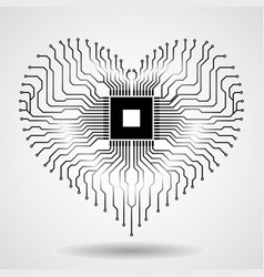 Abstract electronic circuit board in shape of vector