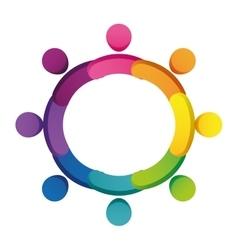 Abstract Pictogram icon teamwork concept vector image