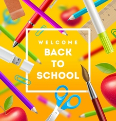 Back to school greeting vector image vector image
