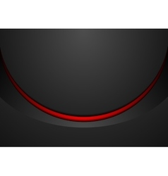 Black and red corporate wavy brochure design vector image vector image