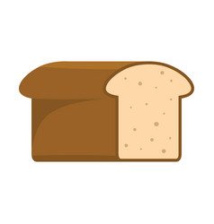 bread colorful bakery product icon vector image vector image