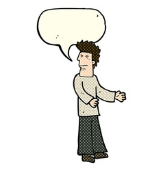 Cartoon disgusted man with speech bubble vector