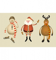 christmas gang vector image vector image