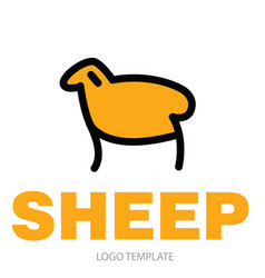 Color stylized drawing of sheep or ram vector