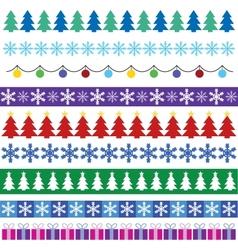cristmas borders vector image vector image